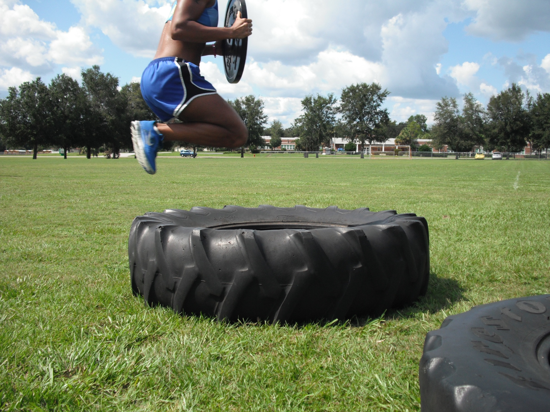 Weighted tire jumps 3